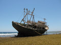 Ship wreck on the red sea photo of a in near marsa alam Royalty Free Stock Photography
