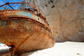 Ship-wreck in Zakynthos, Greece Royalty Free Stock Images