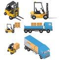 Shipment Icons Royalty Free Stock Photo
