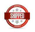 Shipped seal illustration design over a white background Royalty Free Stock Image