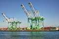 Shipping Cargo Crane Port of Los Angeles Stock Images