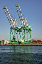 Shipping Cargo Crane Port of Los Angeles Stock Photo