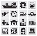 Shipping and cargo icons Stock Photography