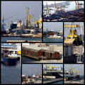 Shipping collage Royalty Free Stock Photo