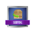 Shipping concept button illustration design over white Stock Images