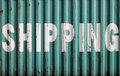 Shipping container Stock Photography