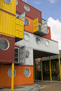 Shipping Container building Stock Images