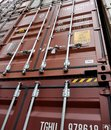 Shipping container garnet close up Stock Photos