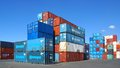 Shipping containers. Havre, France. Stock Images
