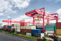 Shipping containers port Royalty Free Stock Photo