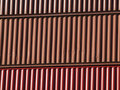Shipping containers stacked on top of each other Royalty Free Stock Image