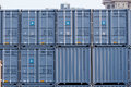 Shipping containers zhuhai china may cargo stacked up at jiuzhou port in china Stock Images