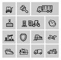 Shipping icon set Royalty Free Stock Photo
