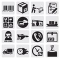 Shipping icons Royalty Free Stock Image