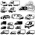 Shipping icons set black illustration vector Stock Image