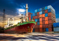 Shipping port Royalty Free Stock Photo