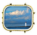 Ships Ahoy Lighthouse Royalty Free Stock Image