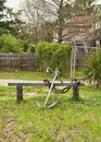 Ships anchor park bench this is a in a by lake pontchartrain louisiana Stock Images
