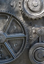 Ships cogs gears and of the mechanism used to lower the anchor in a merchant ship Royalty Free Stock Photography
