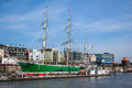 Ships at hamburg harbor germany may on may st is a city – its port located the river elbe is the Royalty Free Stock Images