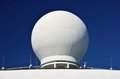Ships Radar Dome Royalty Free Stock Photo