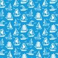 Ships seamless pattern.