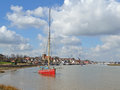 Ships thames barges maldon essex uk Royalty Free Stock Photos