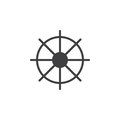 Ships wheel icon vector, filled flat sign, solid pictogram isolated on white