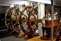 Ships wheels the of hms warrior anchored at portsmouth in uk Royalty Free Stock Photo