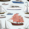 Ships and yachts pattern