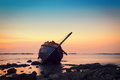 Shipwreck in Angsila Chonburi Royalty Free Stock Photo