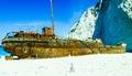 Shipwreck Beach Zante Royalty Free Stock Photo