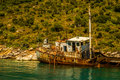 Shipwreck ii at alonissos island greece alonnisos Stock Photo