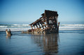 Shipwreck in Ocean Waves Royalty Free Stock Photo