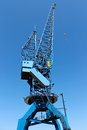 Shipyard crane Stock Images