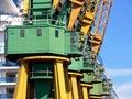 Shipyard crane cab Stock Photos
