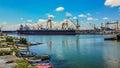 The shipyard Mangalia Romania Royalty Free Stock Photo
