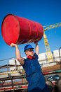 Shipyard workers at the work Royalty Free Stock Photography