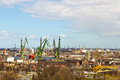 Shipyards in gdansk poland view of Royalty Free Stock Photography