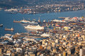 Shipyards in perama piraeus athens view of Royalty Free Stock Photography