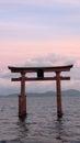 Shirahige tori in Lake Biwa in Japan Royalty Free Stock Photo