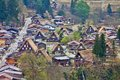 Shirakawa go japan aerial view of famous village listed as unesco world heritage site gifu prefecture Royalty Free Stock Photography