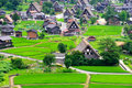 Shirakawago village japan bird eye view of Royalty Free Stock Photography