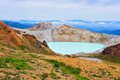 Shirane crater lake gunma japan Royalty Free Stock Photo