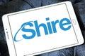 Shire pharmaceutical company logo Royalty Free Stock Photo