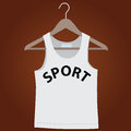 Shirt on a hanger for clothes vector illustration Royalty Free Stock Photos