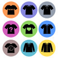 Shirt icon designs set a of for graphic element use Stock Photo