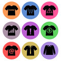 Shirt icon designs set a of for graphic element use Stock Photos