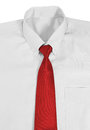 Shirt and necktie closeup image of on white background Royalty Free Stock Image