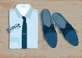 Shirt and shoes Vector Royalty Free Stock Photo